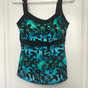 Swimsuits for All black blue Hawaiian tankini 10